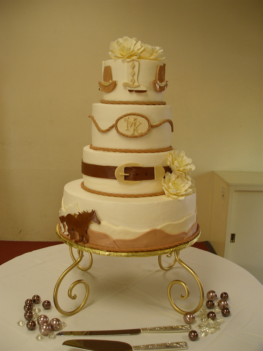 Western Wedding Cakes Ideas  Western Theme Wedding Cake CakeCentral