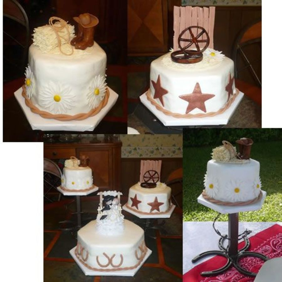 Western Wedding Cakes Ideas  Western Wedding Cake CakeCentral