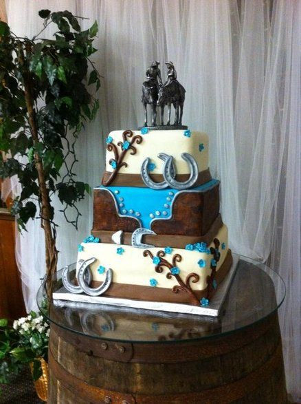 Western Wedding Cakes Ideas  Western wedding cakes on Pinterest