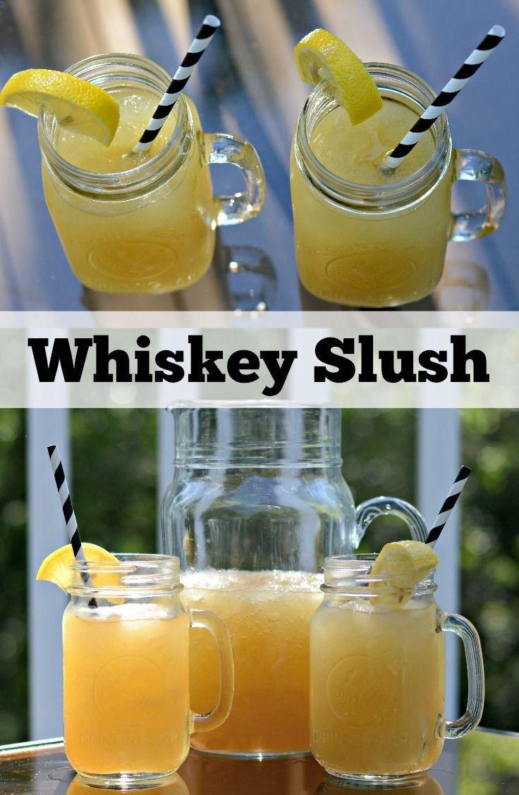Whiskey Summer Drinks  Whiskey Slush Recipe — Dishmaps