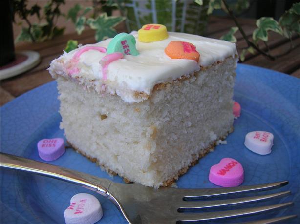 White Almond Wedding Cake Recipe From Scratch  white almond sour cream cake from scratch