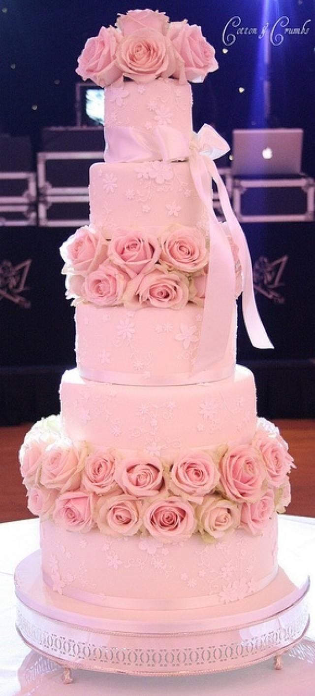 White And Pink Wedding Cakes  Pink Wedding Pink And White Weddbook