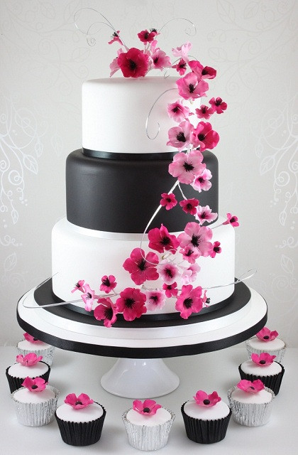 White And Pink Wedding Cakes  Cupcakes The Fairy Cakery Cake Decoration and Courses