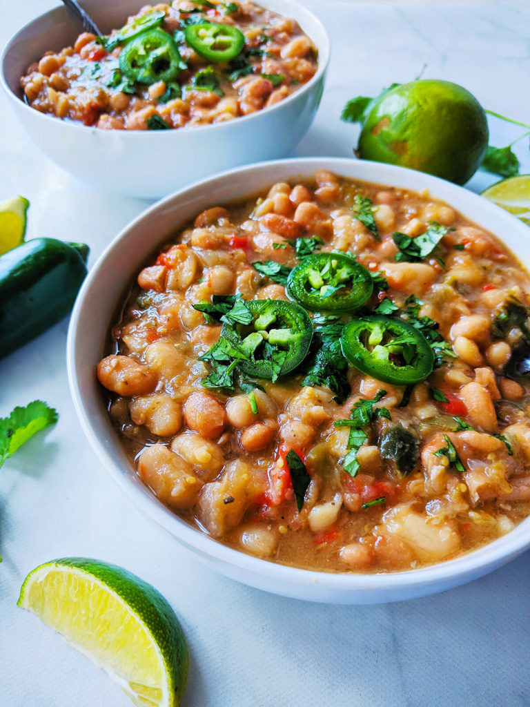 White Bean Recipes Healthy  White & Pinto Bean Tomatillo Soup