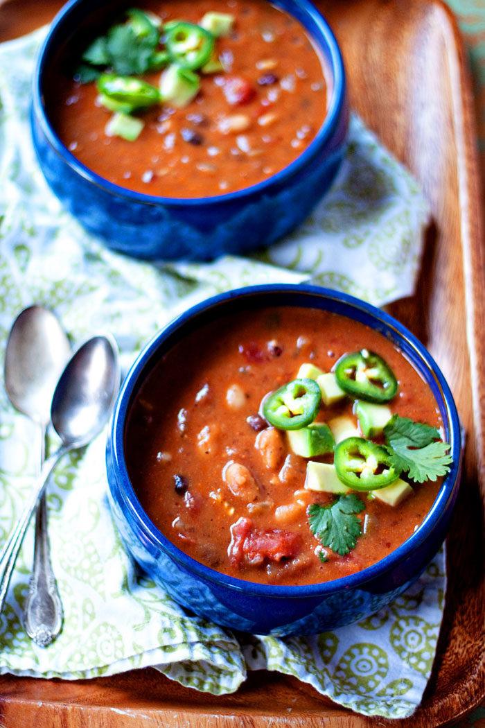 White Bean Recipes Healthy  Jalapeno Black Bean & White Bean Soup Kitchen Treaty