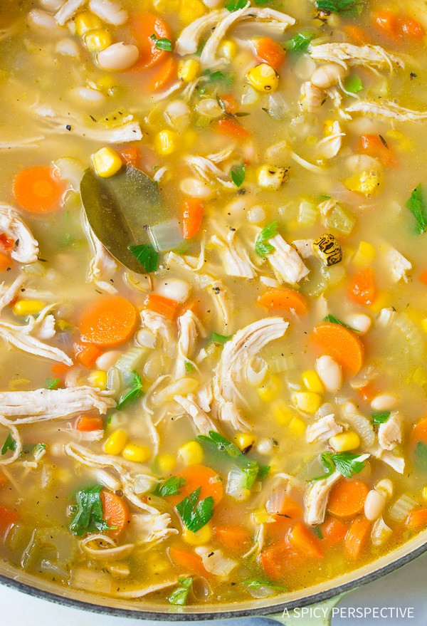 White Bean Recipes Healthy  Healthy Chicken White Bean Soup A Spicy Perspective