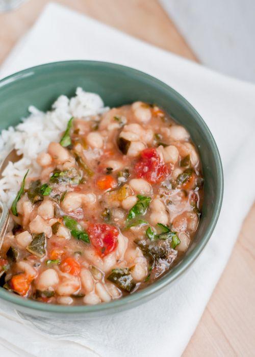 White Bean Recipes Healthy  Slow Cooker Vegan White Bean Stew Recipe