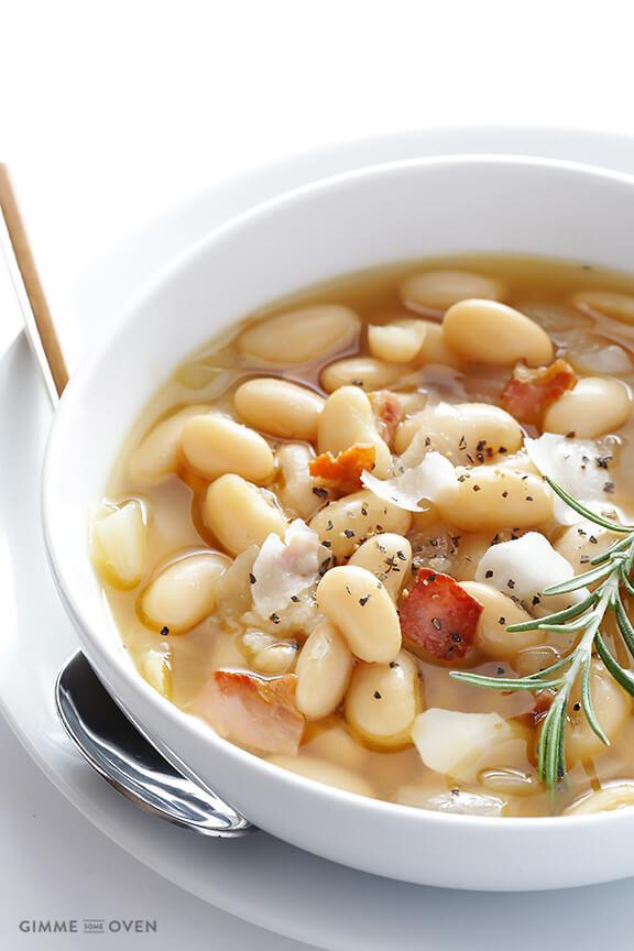 White Bean Recipes Healthy  7 Ingre nt Tuscan White Bean Soup