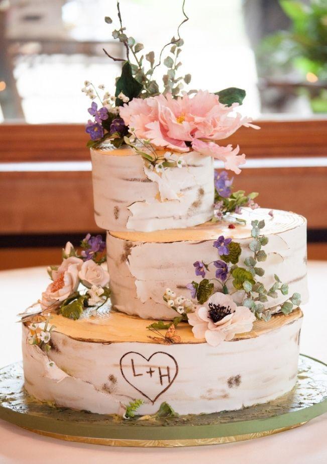 White Birch Wedding Cake  25 best Birch Wedding Cakes ideas on Pinterest