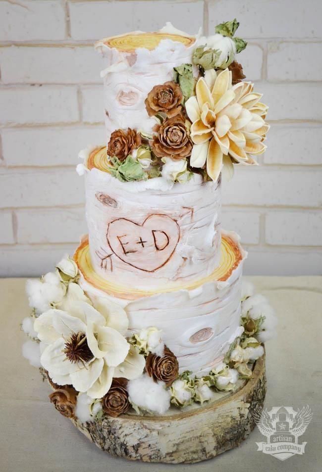 White Birch Wedding Cake  White Birch Wedding cake Wedding Inspiration