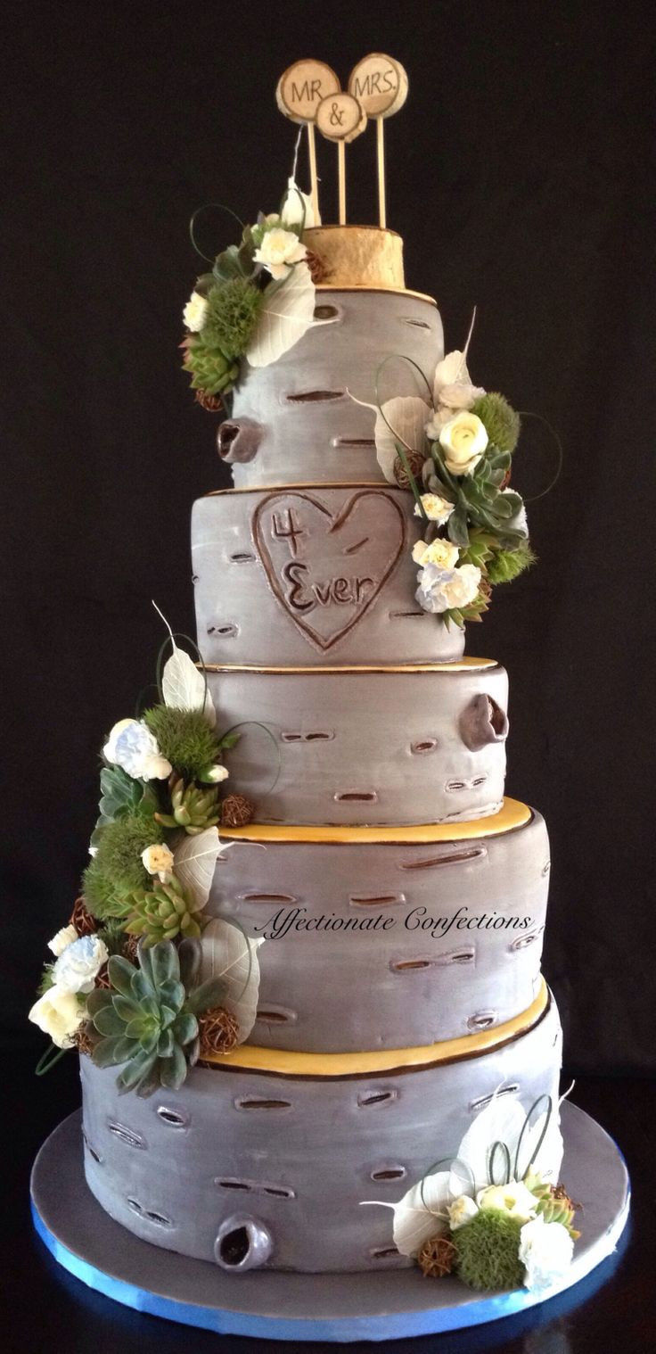White Birch Wedding Cake  14 best Wedding cakes images on Pinterest