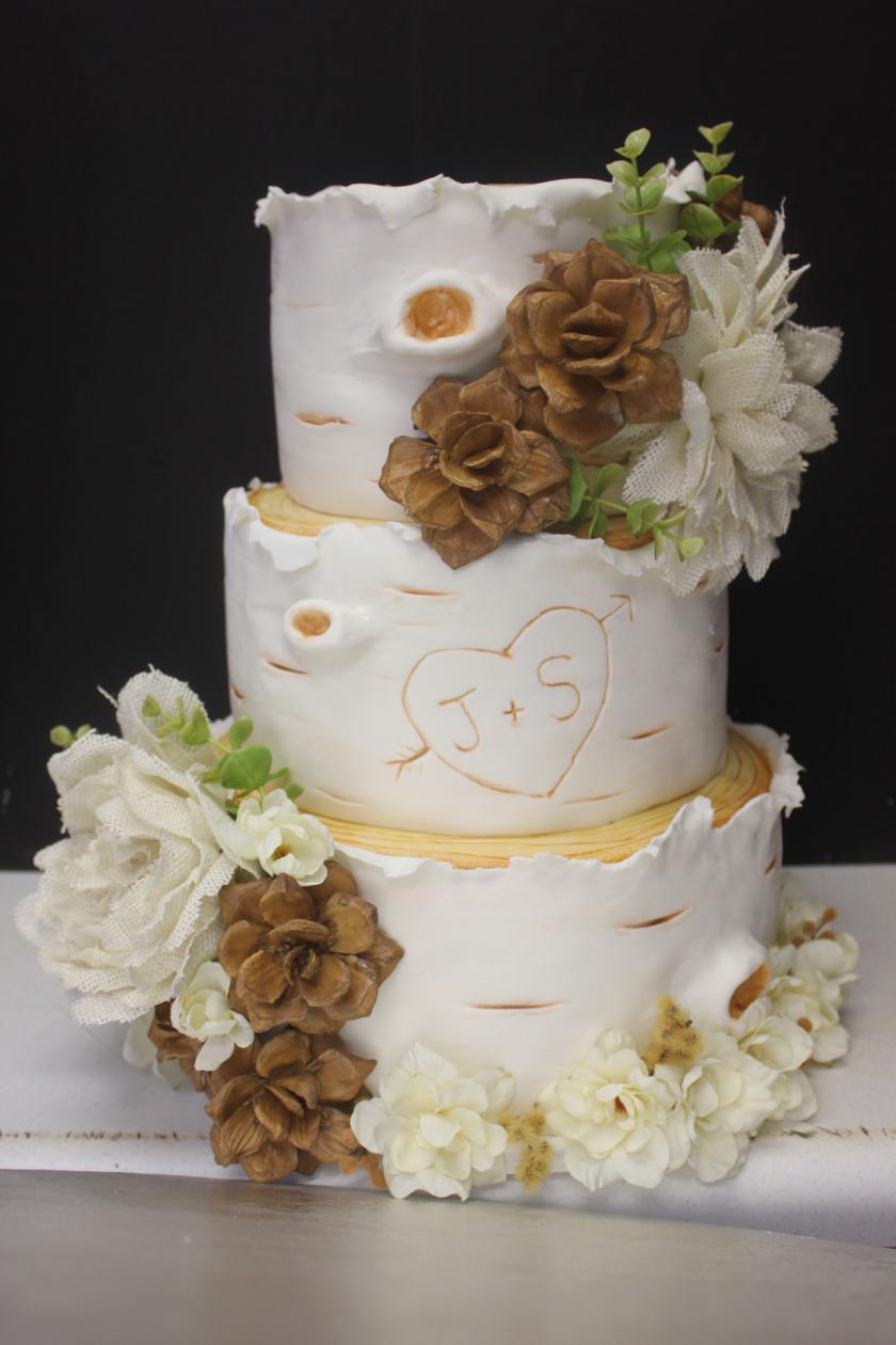 White Birch Wedding Cake  White Birch Tree Wedding Cake