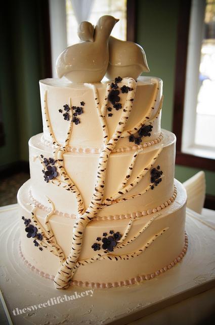 White Birch Wedding Cake  White Birch Wedding Cake