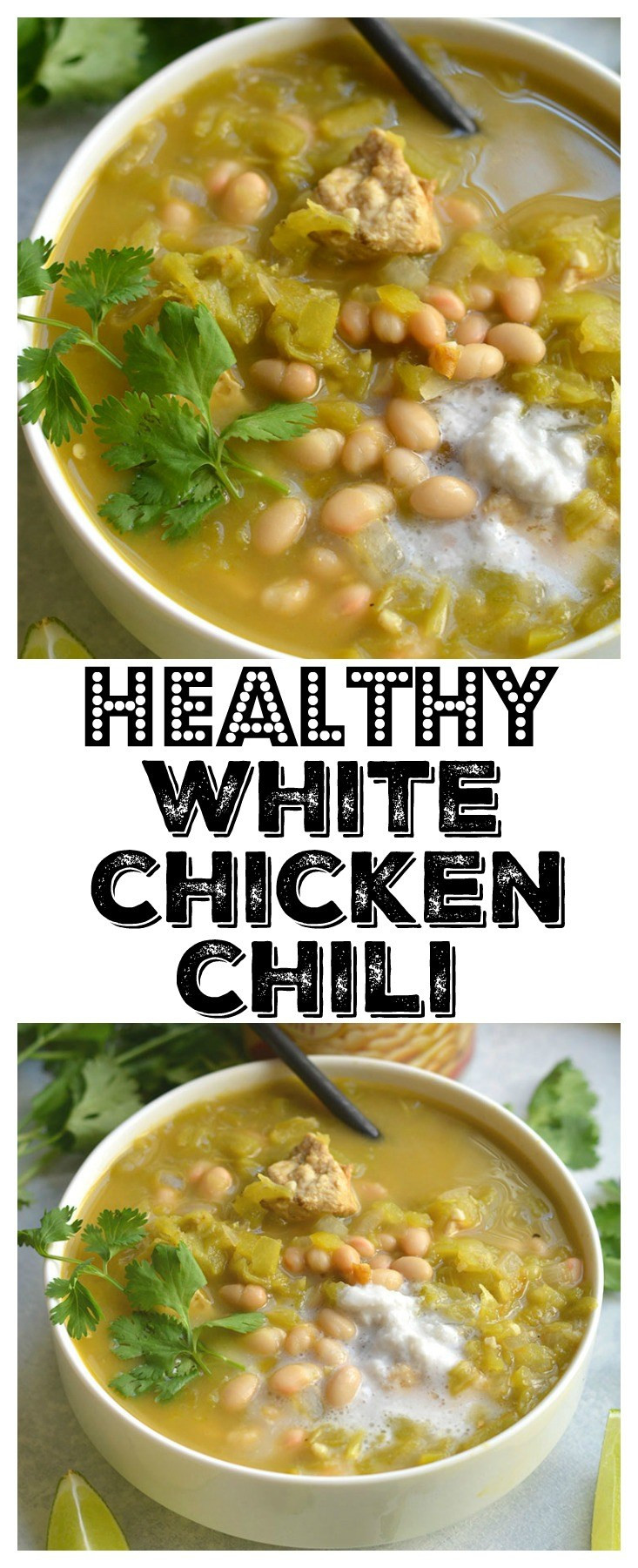 White Chicken Chili Healthy  Healthy White Chicken Chili GF Low Cal Skinny Fitalicious