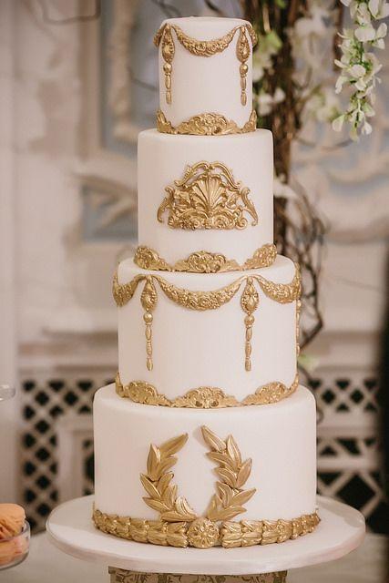White Gold Wedding Cakes  Gold Wedding White & Gold Wedding Cakes Weddbook