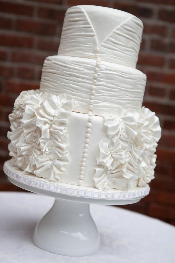 White On White Wedding Cake  Lulu s Event Design Top Ten All White Wedding Cakes