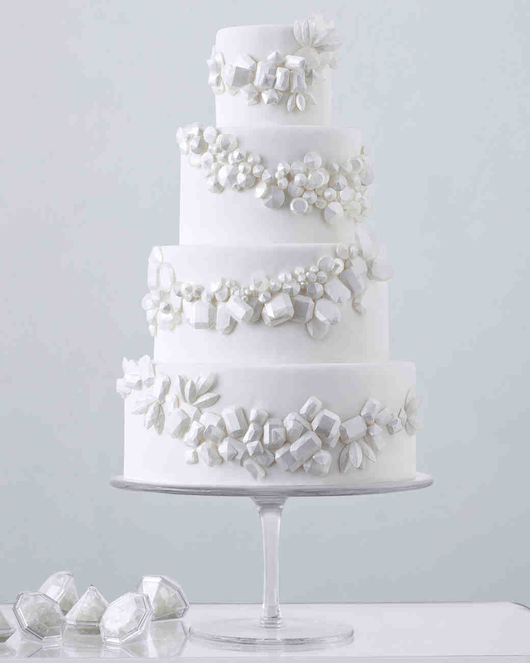 White On White Wedding Cake  104 White Wedding Cakes That Make the Case for Going