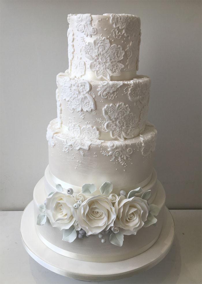 White On White Wedding Cake  12 white wedding cakes