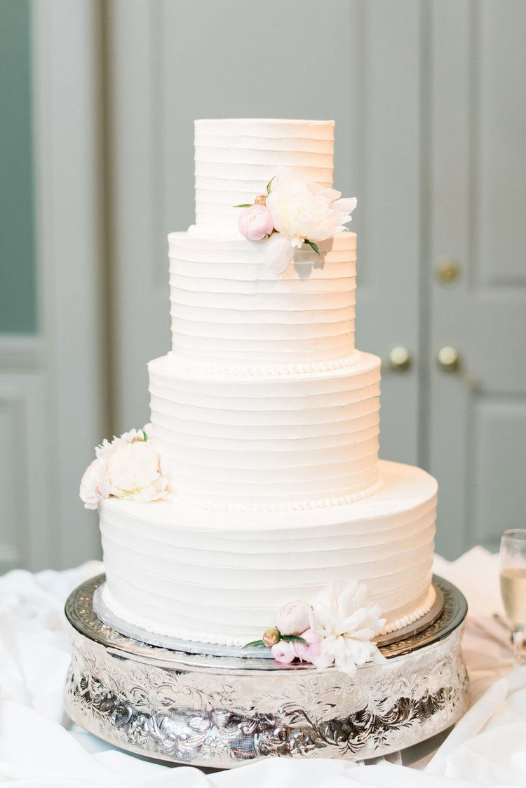 White Wedding Cake  25 Wedding Cake Ideas That Will Make You Hungry