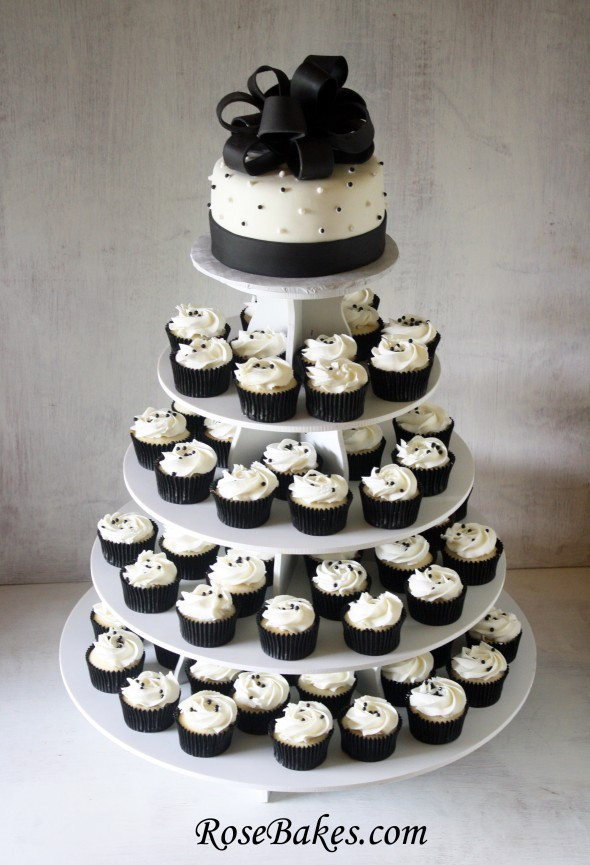 White Wedding Cake Cupcakes  Thursday cake day Black alternative cake ideas