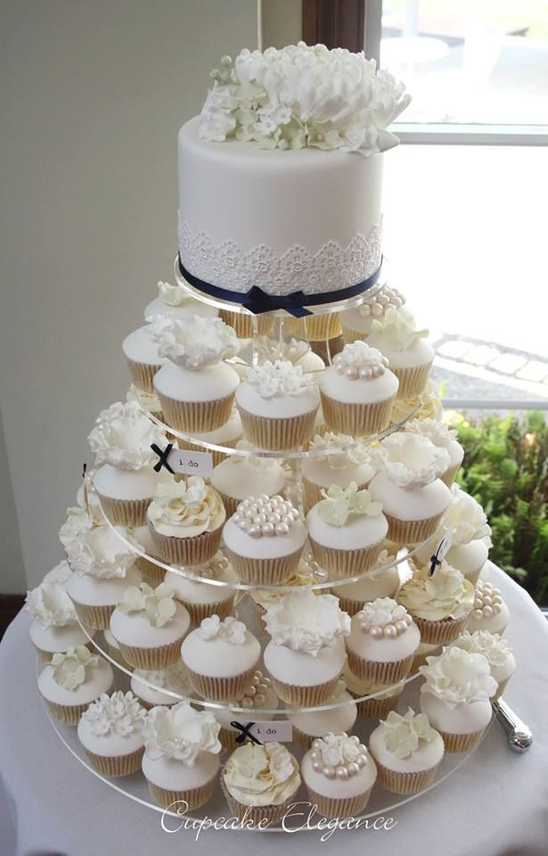 White Wedding Cake Cupcakes  33 best images about Mini Wedding cakes on Pinterest