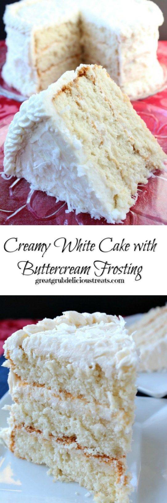 White Wedding Cake Frosting Recipes  25 best ideas about White cake mixes on Pinterest