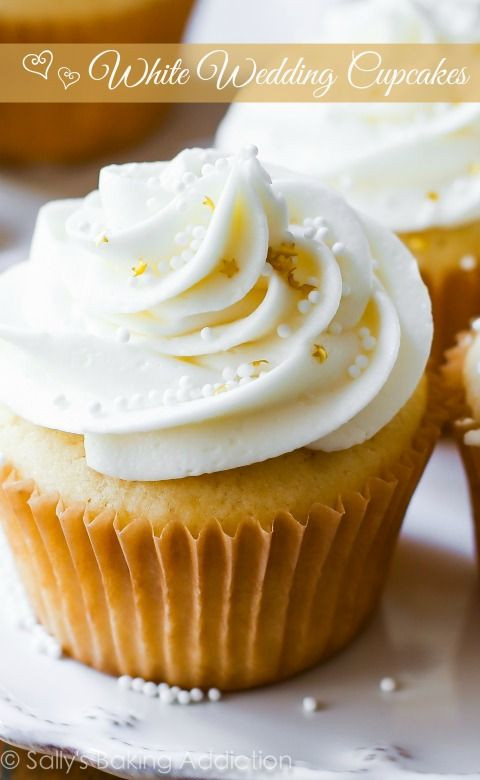 White Wedding Cake Frosting Recipes  17 best ideas about White Wedding Cupcakes on Pinterest