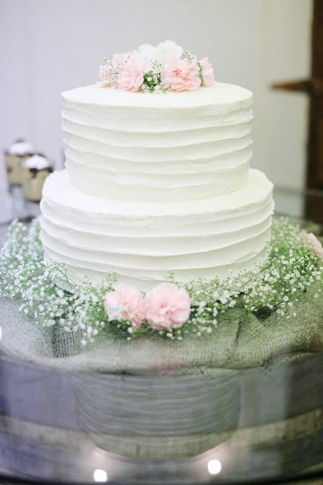 White Wedding Cake Icing  Simple Wedding Cake something about the rough lines