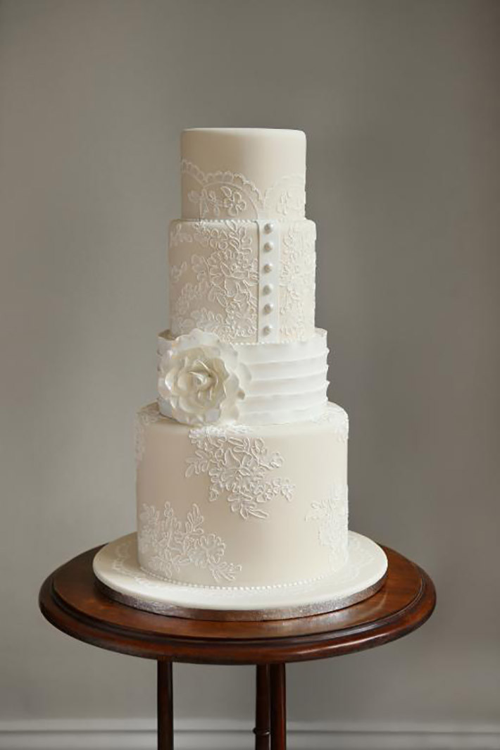 White Wedding Cake  White Wedding Cakes That Are Anything But Plain