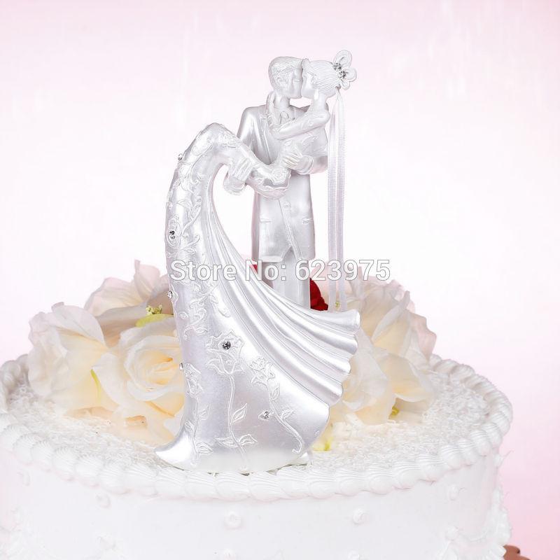 White Wedding Cake Topper  Aliexpress Buy Pearl White Wedding Cake Toppers