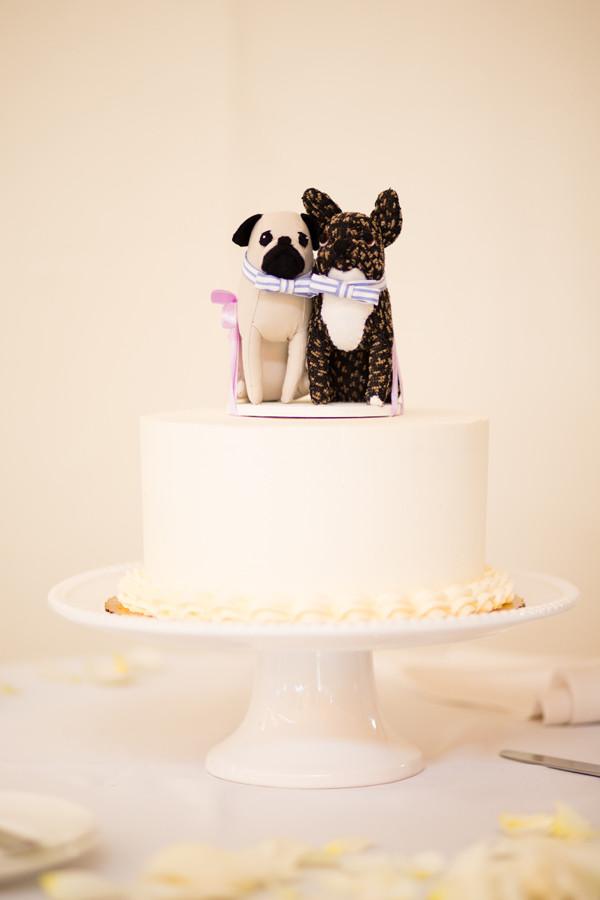 White Wedding Cake Topper  Black and White Dogs Wedding Cake Topper Elizabeth Anne