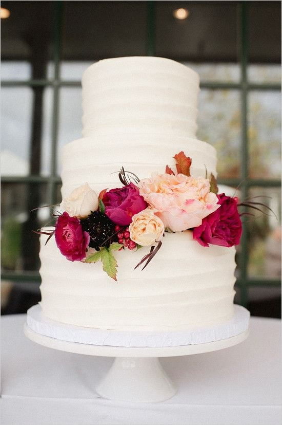 White Wedding Cake With Flowers  100 Most Beautiful Wedding Cakes For Your Wedding