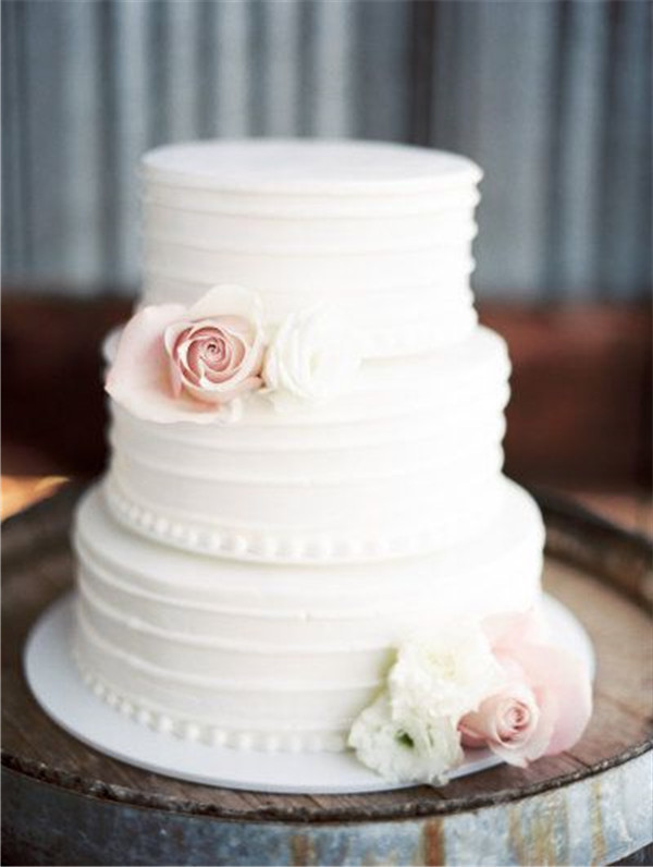 White Wedding Cakes  40 Elegant and Simple White Wedding Cakes Ideas