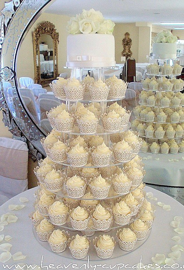 White Wedding Cupcakes  Heavenly Cupcakes Wedding Cakes in Nottingham