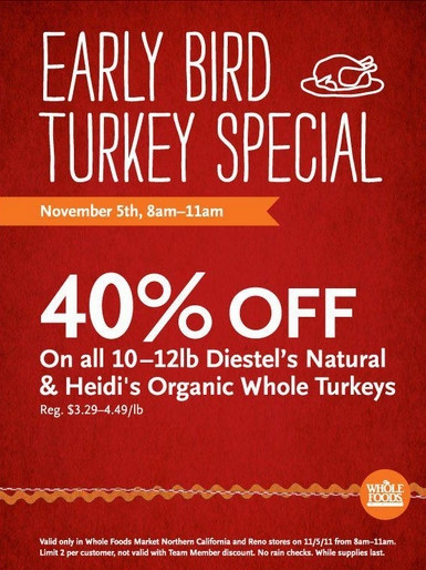 Whole Foods Organic Turkey  Local Readers Whole Foods off Organic Turkey 11 5
