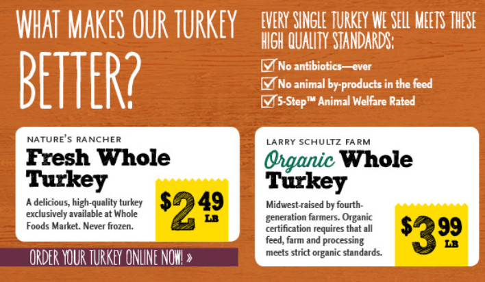 Whole Foods Organic Turkey  Whole Foods Natural and Organic Turkey Deals – All
