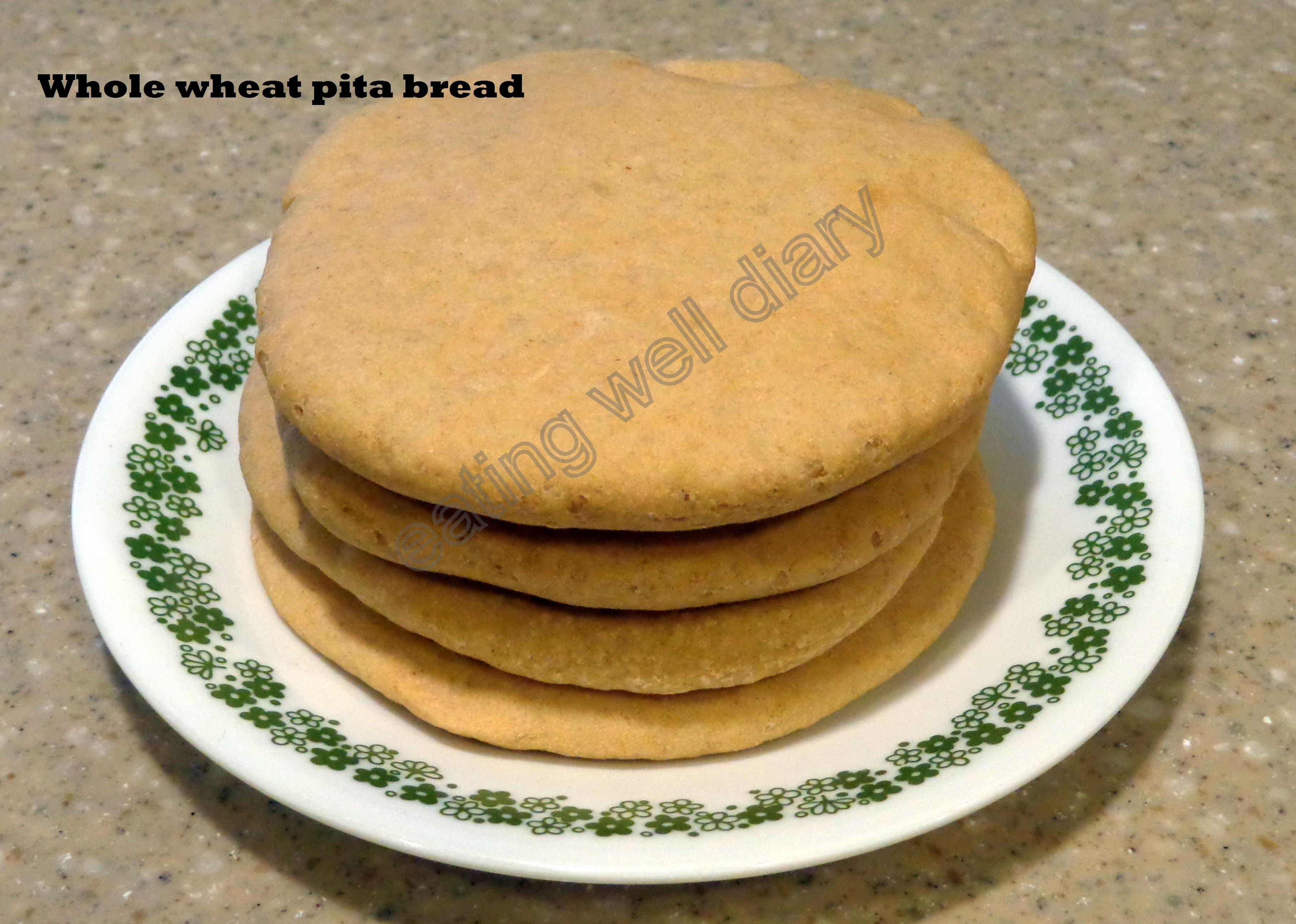 Whole Wheat Pita Bread Healthy  whole wheat pita bread EATING WELL DIARY