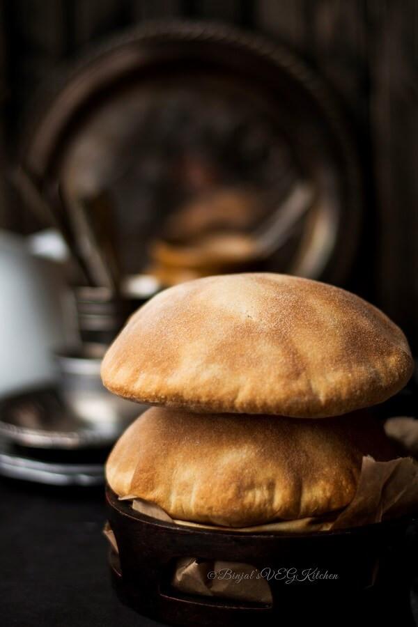 Whole Wheat Pita Bread Healthy  Homemade Whole Wheat Pita Bread Binjal s VEG Kitchen