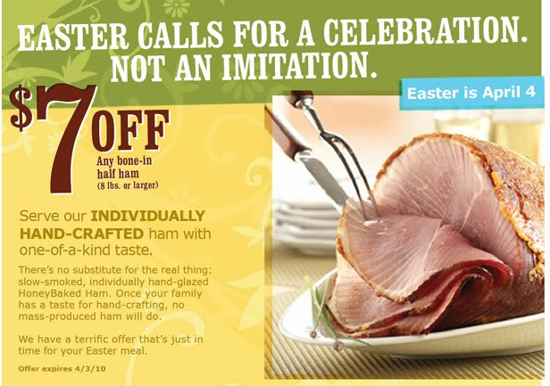 Why Do You Eat Ham On Easter  Allergen Free Please Need a HoneyBaked Ham Coupon