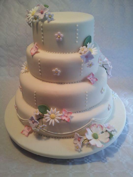 Wildflower Wedding Cakes  Wildflower Wedding cake by Cakeism CakesDecor