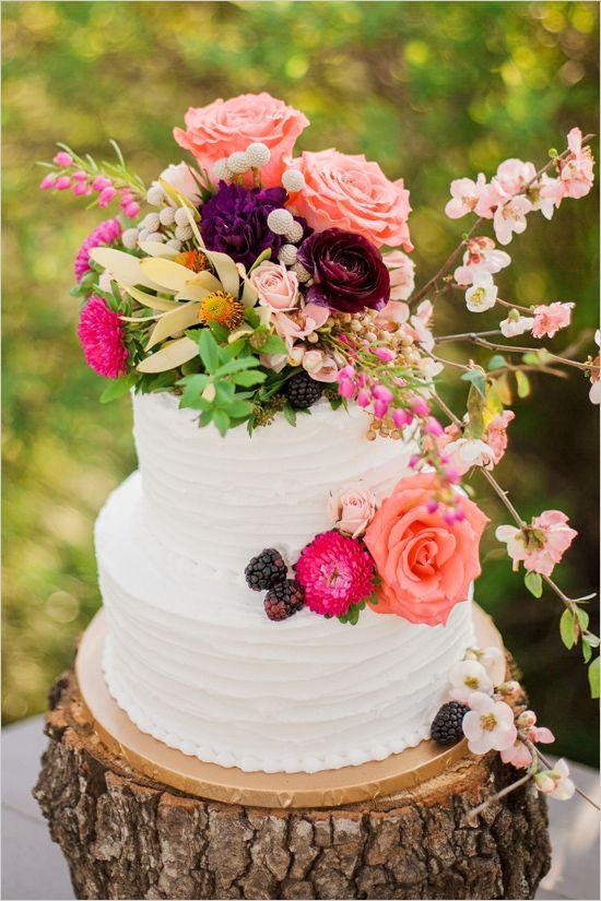 Wildflower Wedding Cakes  The Latest Wedding Cake Trends Arabia Weddings