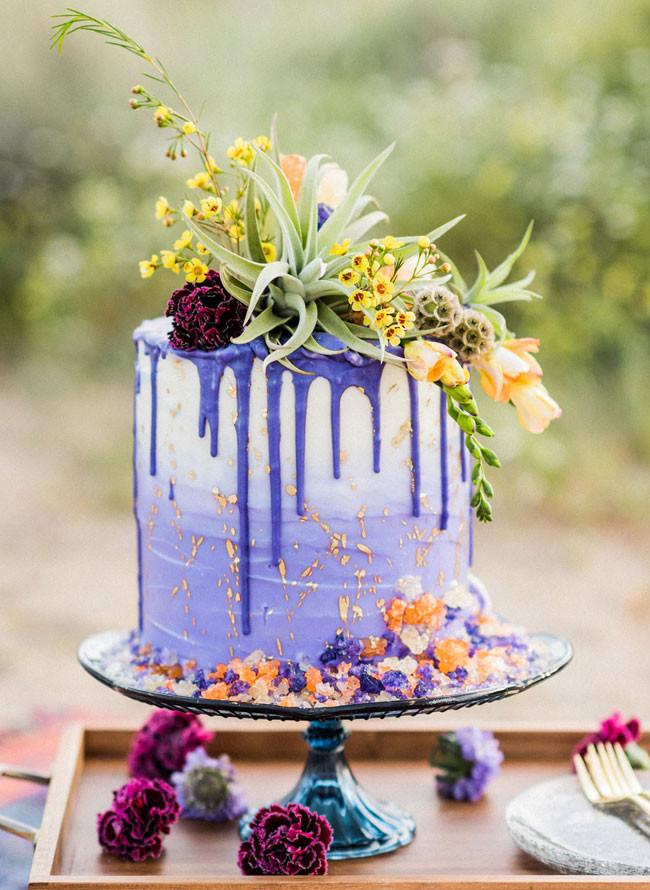 Wildflower Wedding Cakes  20 Trendy Drip Wedding Cakes That Make your Dessert Table