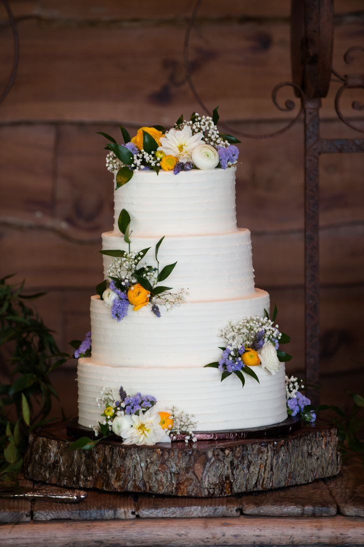 Wildflower Wedding Cakes  A Casual Hill Country Wedding at Old Glory Ranch in