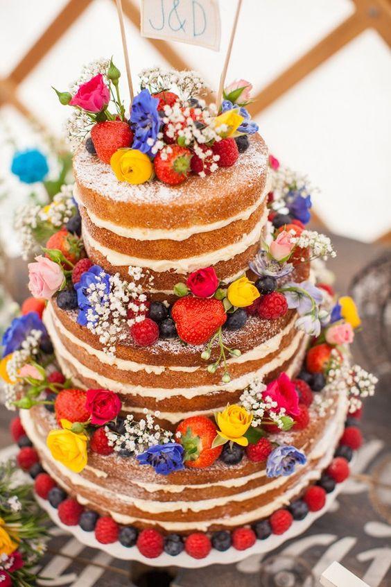 Wildflower Wedding Cakes  55 Boho & Rustic Wildflower Wedding Ideas