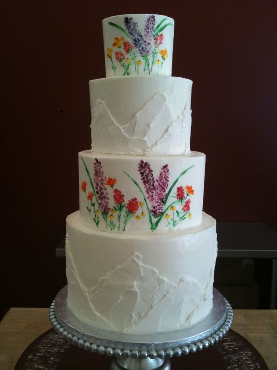 Wildflower Wedding Cakes  Wildflowers and mountain wedding cake Perfect for a