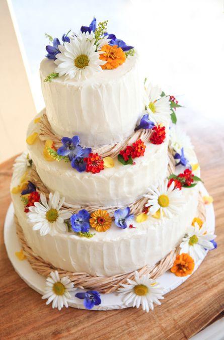 Wildflower Wedding Cakes  47 Beautiful And Natural Wildflower Wedding Ideas