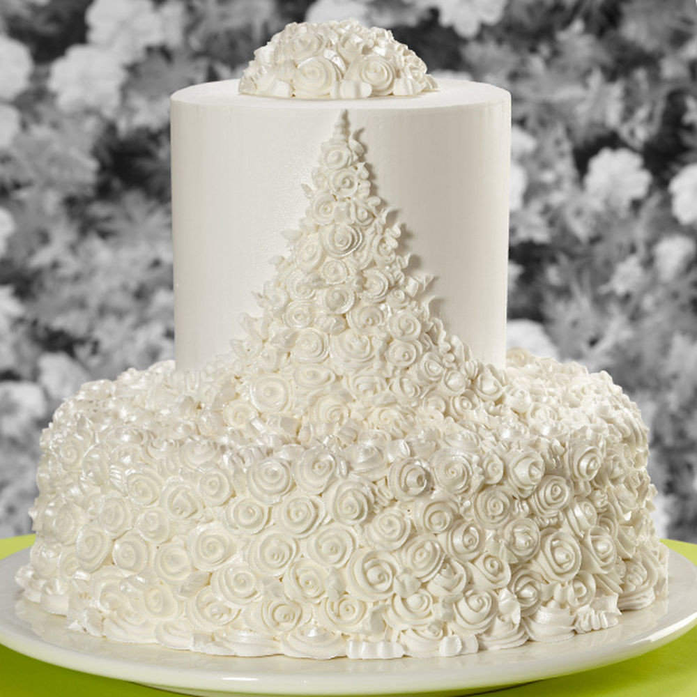 Wilton Wedding Cakes  Ribbon Roses Wedding Cake