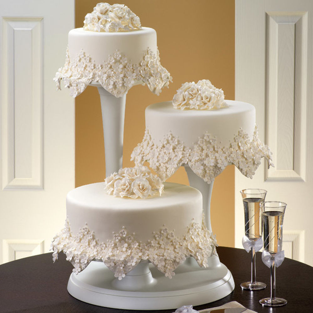 Wilton Wedding Cakes  Floral Frost Cake
