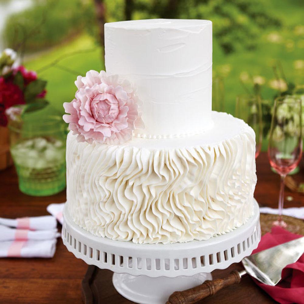Wilton Wedding Cakes  Peony Crepe Wedding Cake