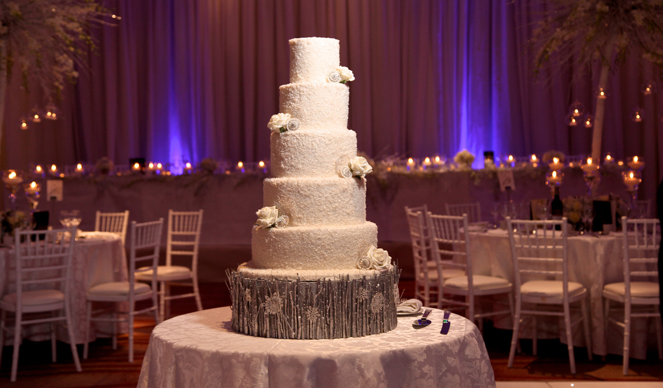 Winter Themed Wedding Cakes  Winter Themed Wedding Cake